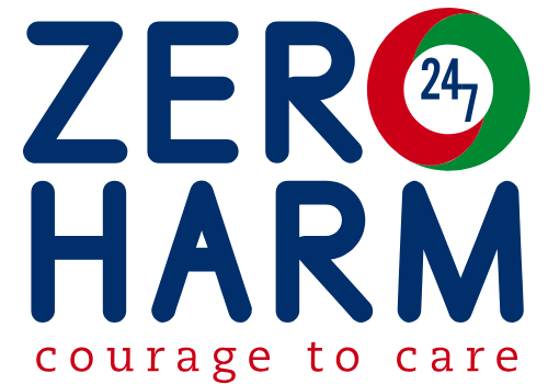 Zero Harm logo with 'Courage to Care' tagline below it