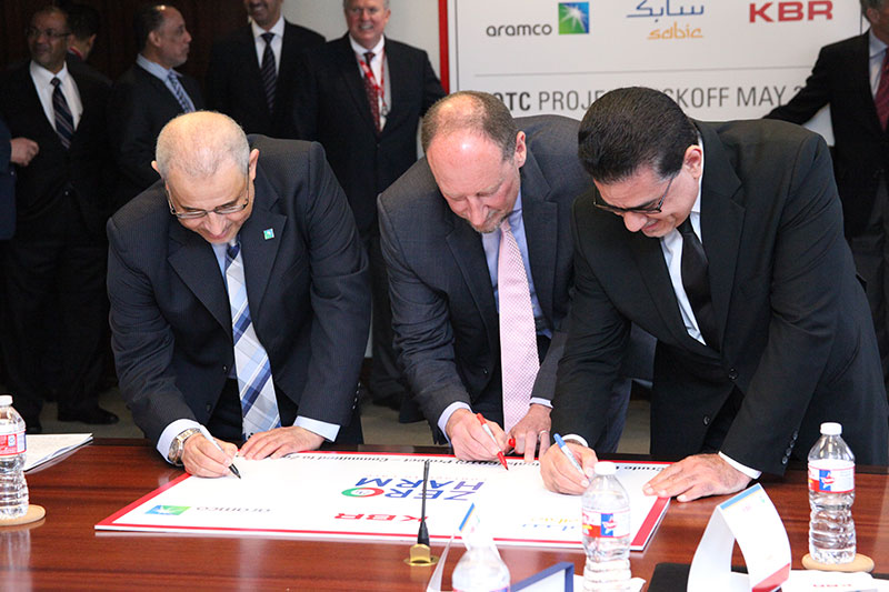 KBR Hosts Saudi Aramco and SABIC for Contract Signing