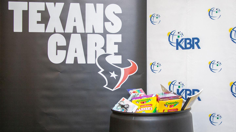 Houston Texans School Supply Drive 2019